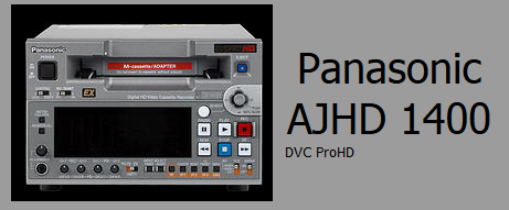 Panasonic AJHD 1400 DVC PRO Deck Rentals