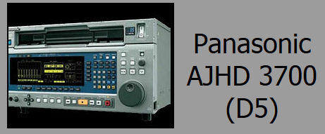 Panasonic AJ HD-3700 D5 Deck Rental - The Panasonic D5 format set the standard that pioneered Digital Cinema mastering as well as 5.1 audio mastering for broadcast. With its multiple frame rates of 60, 30 (29.97) 25, 24 and 23.98 the AJ HD 3700